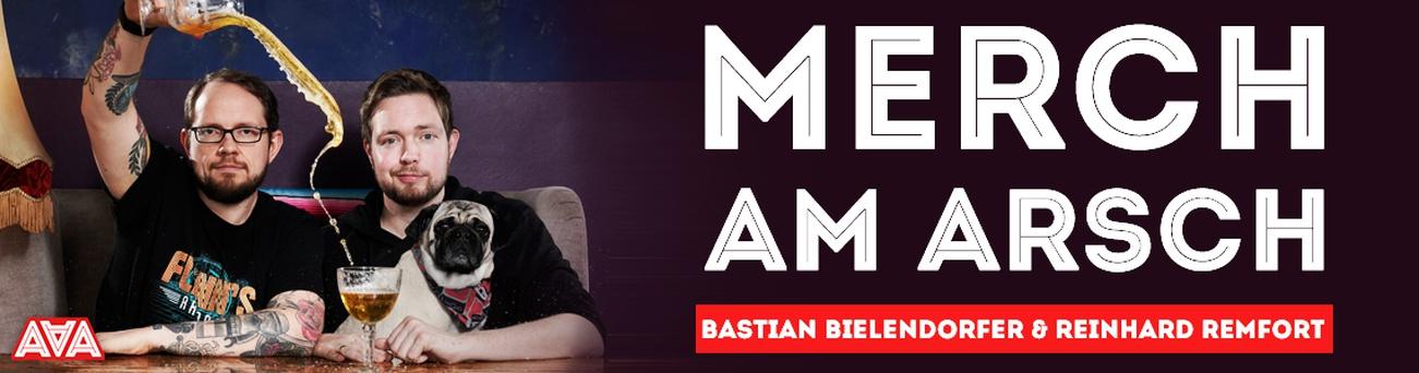 Banner Alliteration am Arsch