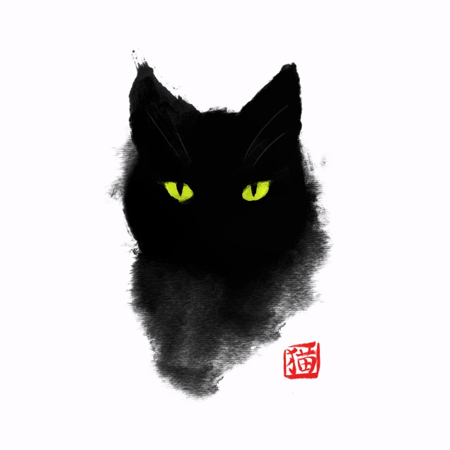 BlancaVidal - Cat ink