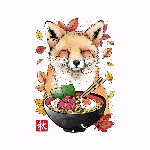 Fox, Leaves and Ramen
