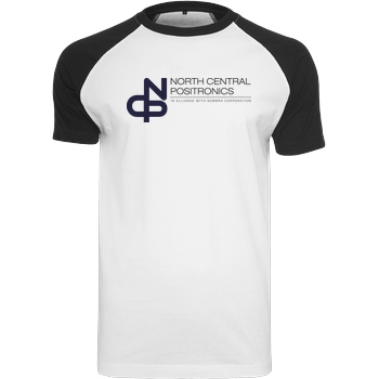 Mindsparkcreative North Central Positronics T-Shirt Raglan Tee white