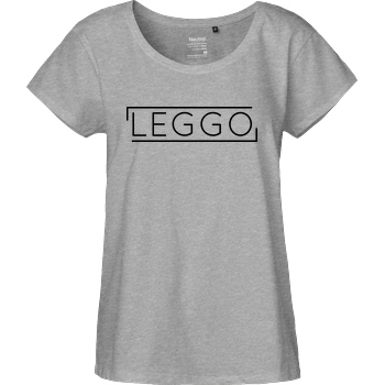 Kelvin und Marvin Kelvin und Marvin - Leggo T-Shirt Fairtrade Loose Fit Girlie - heather grey