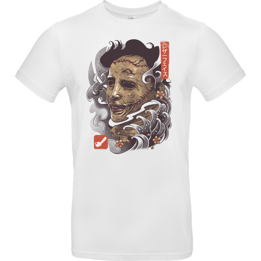 Vincent Trinidad Oni Leather Mask T-Shirt B&C EXACT 190 -  White