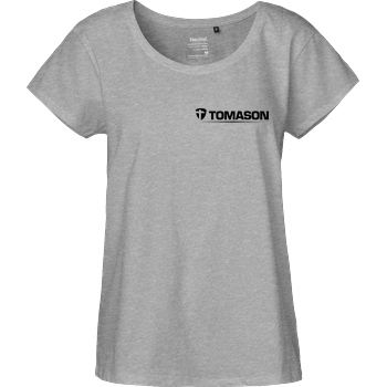Tomason Tomason - Logo T-Shirt Fairtrade Loose Fit Girlie - heather grey