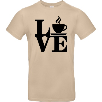 Dr.Monekers Coffee Love T-Shirt B&C EXACT 190 - Sand
