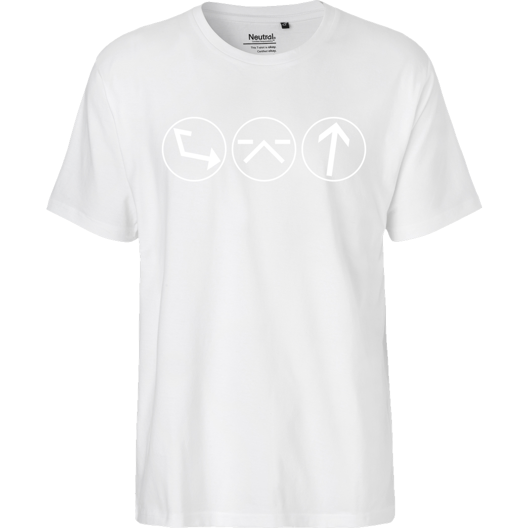 Ash5ive Ash5 - Dings T-Shirt Fairtrade T-Shirt - white