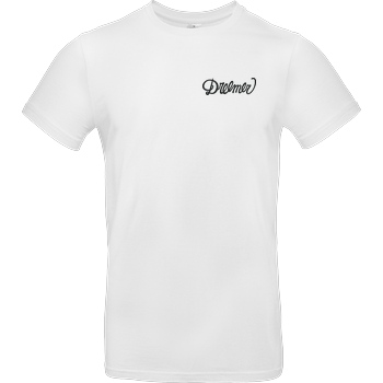 Dreemtum Dreemer - Lettering embroidered T-Shirt B&C EXACT 190 - Weiß