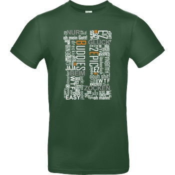 Die Buddies zocken 2EpicBuddies - Cloud T-Shirt B&C EXACT 190 -  Bottle Green