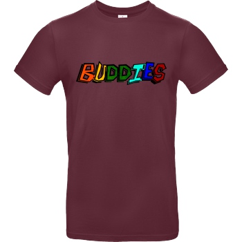 Die Buddies zocken 2EpicBuddies - Colored Logo Big T-Shirt B&C EXACT 190 - Bordeaux