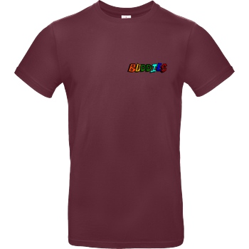 Die Buddies zocken 2EpicBuddies - Colored Logo Small T-Shirt B&C EXACT 190 - Bordeaux