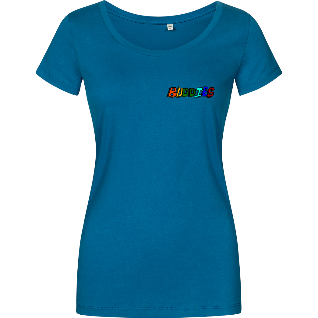 Die Buddies zocken 2EpicBuddies - Colored Logo Small T-Shirt Damenshirt petrol