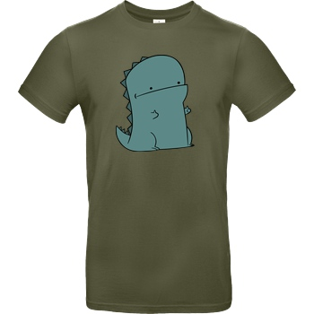 JerichoFive Jericho Five - Thumbs Up Dino T-Shirt B&C EXACT 190 - Khaki