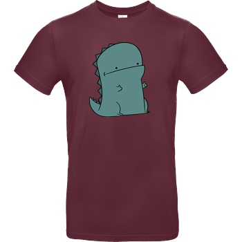 JerichoFive Jericho Five - Thumbs Up Dino T-Shirt B&C EXACT 190 - Burgundy