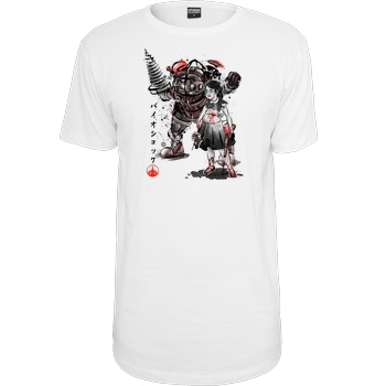 Dr.Monekers Big Daddy and Little Sister T-Shirt Urban Classics Long Tee white