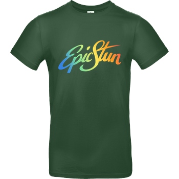 EpicStun EpicStun - Color Logo T-Shirt B&C EXACT 190 -  Bottle Green