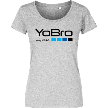 FilmenLernen.de YoBro Hero T-Shirt Girlshirt heather grey
