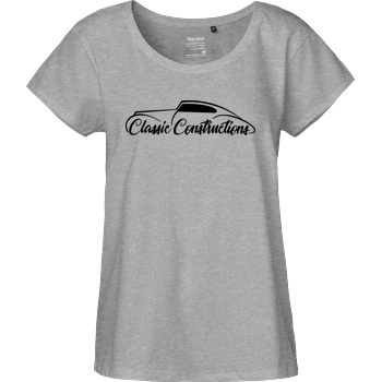 Classic Constructions Classic Constructions - Logo T-Shirt Fairtrade Loose Fit Girlie - heather grey