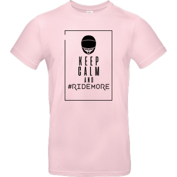Ride-More Ridemore - Keep Calm T-Shirt B&C EXACT 190 - Rosa