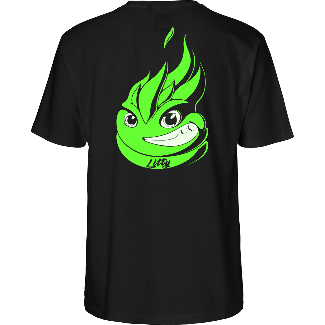 Lucas Lit LucasLit - Neon Glow Litty T-Shirt Fairtrade T-Shirt