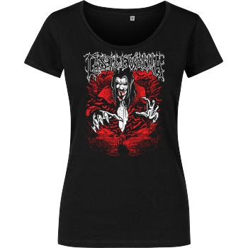 Draculabyte Dracula of the Night T-Shirt Girlshirt schwarz