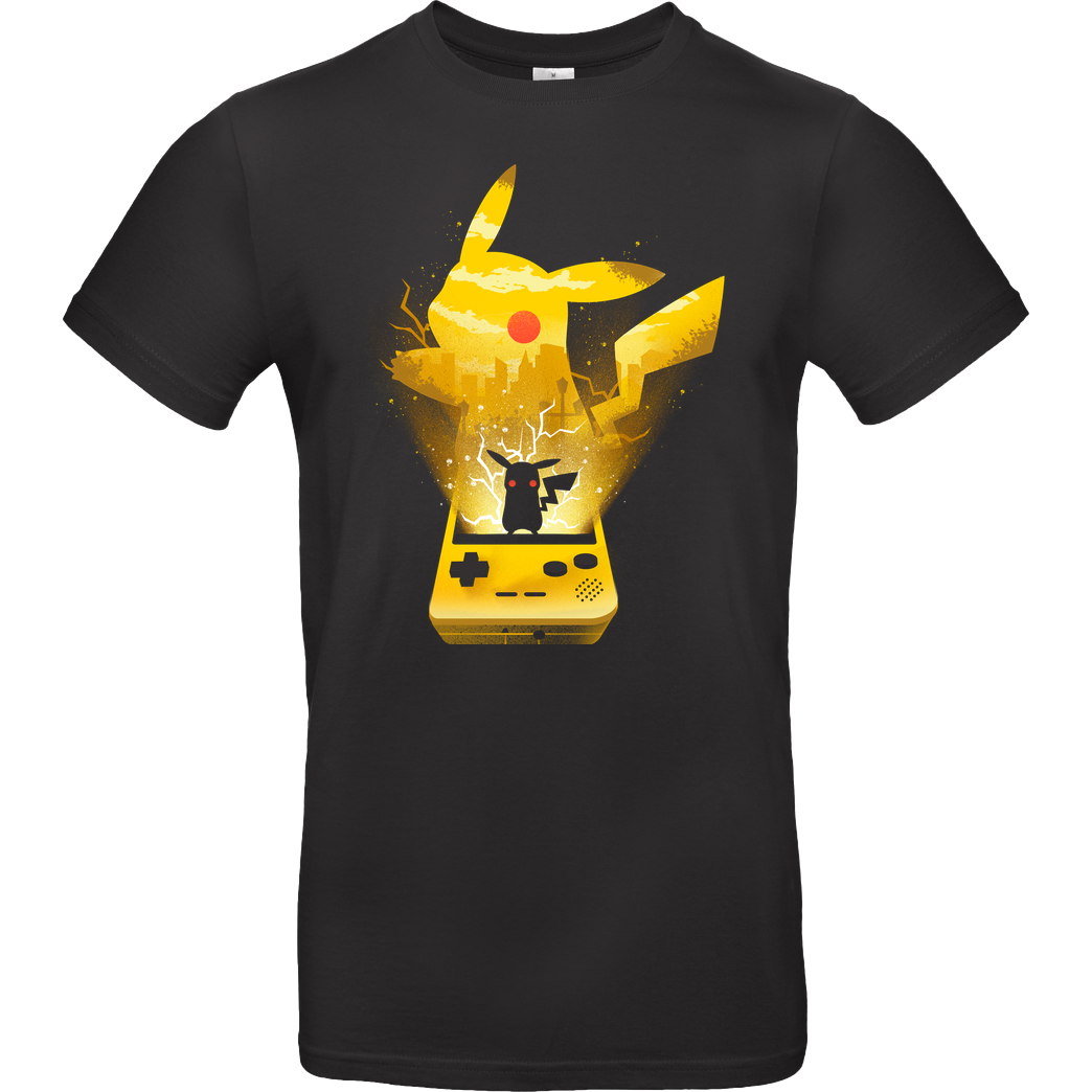 Dandingeroz Yellow Pocket Monster T-Shirt B&C EXACT 190 - Black