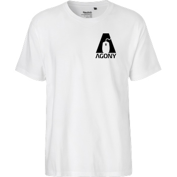 AgOnY Agony - Logo T-Shirt Fairtrade T-Shirt - weiß