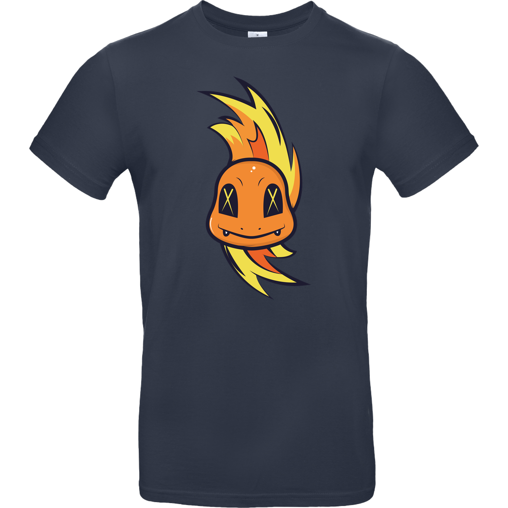 Jelly Pixels Fiery T-Shirt B&C EXACT 190 - Navy