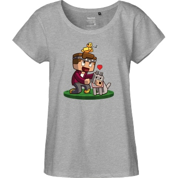 Centex Centex - Bella & Tweety T-Shirt Fairtrade Loose Fit Girlie - heather grey