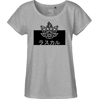 Sephiron Sephiron - Japan Schlingel Kanji & Kana T-Shirt Fairtrade Loose Fit Girlie - heather grey