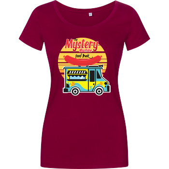 Mystery Food Truck Damenshirt berry