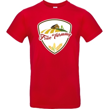 M4cM4nus M4cM4nus - True Farming T-Shirt B&C EXACT 190 - Red