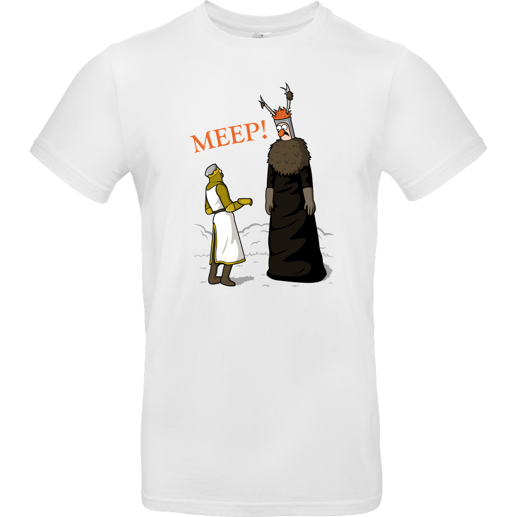 Raffiti Design The Knight who says MEEP T-Shirt B&C EXACT 190 -  White