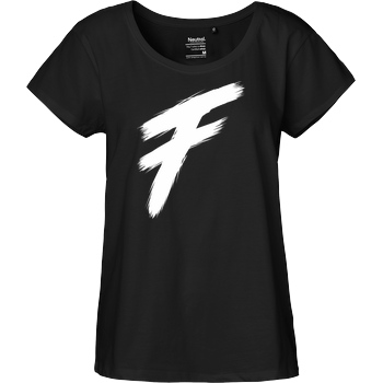 Freasy Freasy - F T-Shirt Fairtrade Loose Fit Girlie - black