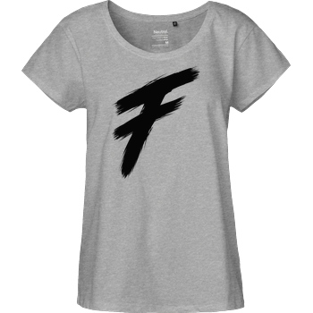 Freasy Freasy - F T-Shirt Fairtrade Loose Fit Girlie - heather grey