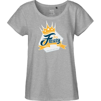 Freasy Freasy - King T-Shirt Fairtrade Loose Fit Girlie - heather grey
