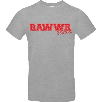 Yxnca Yxnca - RAWWR T-Shirt B&C EXACT 190 - heather grey