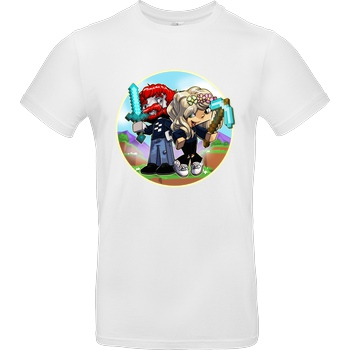 AwesomeElina Awesome Elina - Cartoon T-Shirt B&C EXACT 190 - Weiß