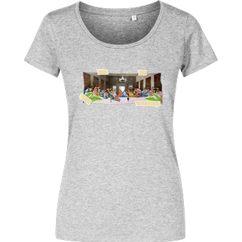 byStegi Stegi - Abendmahl T-Shirt Girlshirt heather grey