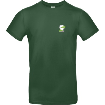 byStegi Stegi - Green Mind T-Shirt B&C EXACT 190 -  Bottle Green