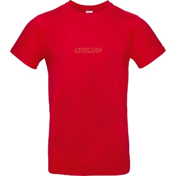 AimBrot Aimbrot - Chillig T-Shirt B&C EXACT 190 - Red