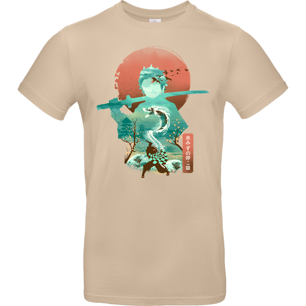 Dandingeroz Ukiyo Demon Slayer T-Shirt B&C EXACT 190 - Sand