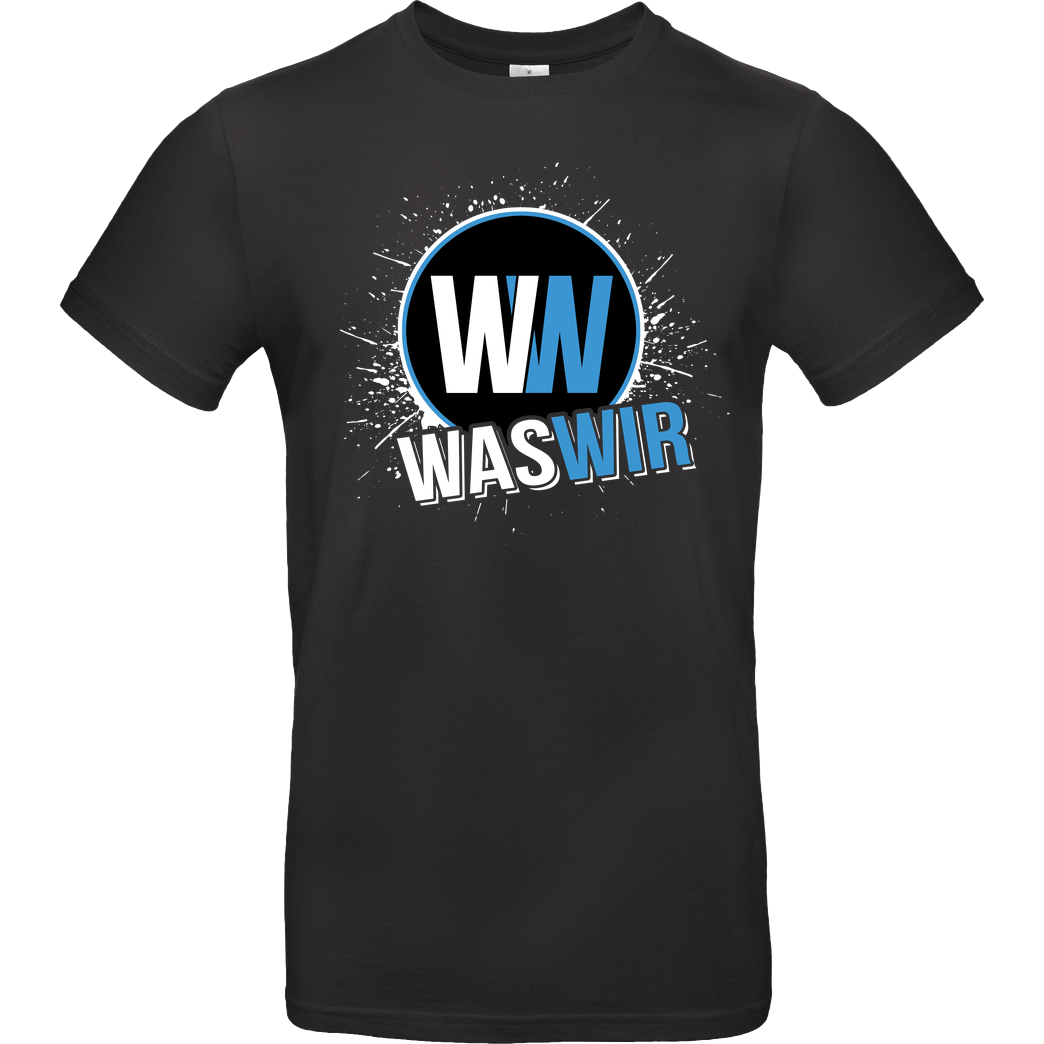 WASWIR WASWIR - Splash T-Shirt B&C EXACT 190 - Black