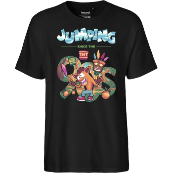 GeekyDog Jumping since the 90s T-Shirt Fairtrade T-Shirt
