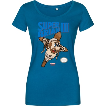 Raffiti Design Super Brian III! T-Shirt Girlshirt petrol