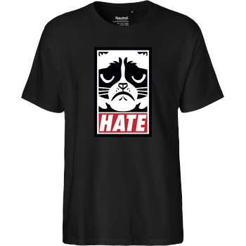 3dsupply Original Grumpy Cat - Hate T-Shirt Fairtrade T-Shirt