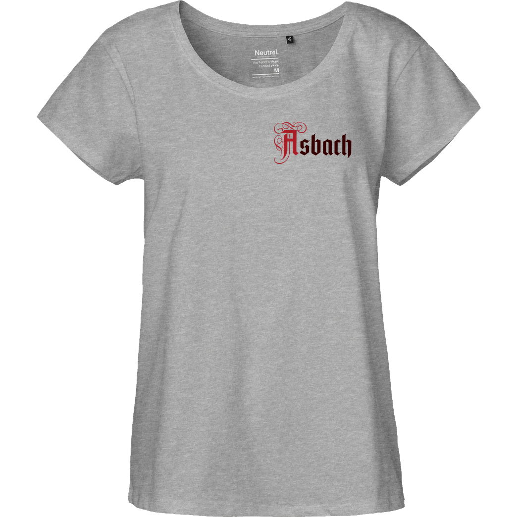 Asbach Asbach® - Logo small T-Shirt Fairtrade Loose Fit Girlie - heather grey