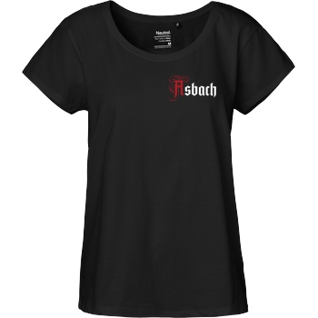 Asbach Asbach® - Logo small T-Shirt Fairtrade Loose Fit Girlie - schwarz