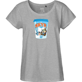 shokzTV shokzTV - Skyr T-shirt T-Shirt Fairtrade Loose Fit Girlie - heather grey