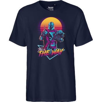 ddjvigo This is the Way T-Shirt Fairtrade T-Shirt - navy