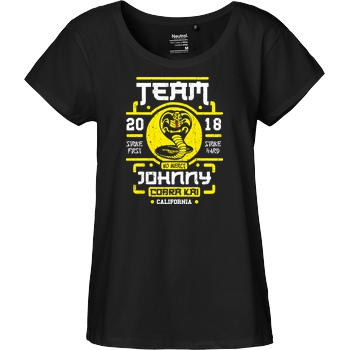 OlipopArt Team Johnny T-Shirt Fairtrade Loose Fit Girlie - black