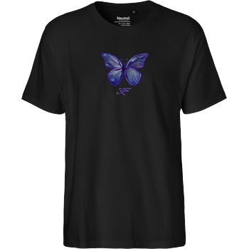 janaxf Janaxf - Butterfly T-Shirt Fairtrade T-Shirt - schwarz